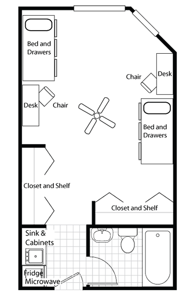 Extra Large Double Two Floor Plan